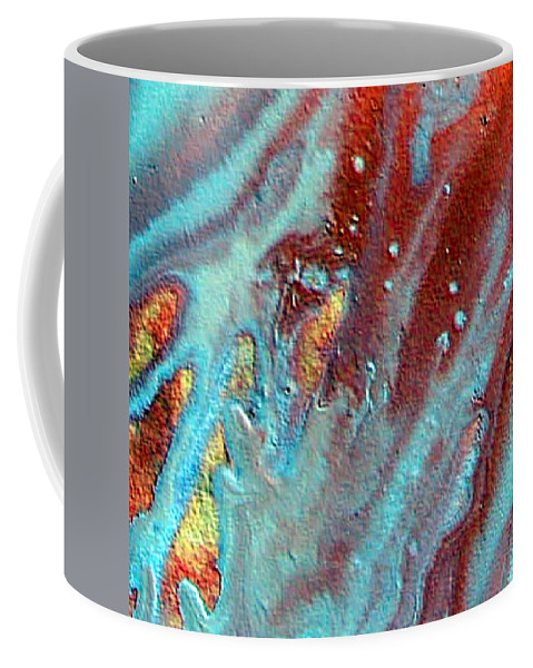 Melting Point Coffee Mug featuring the painting W 039 by Dragica Micki Fortuna