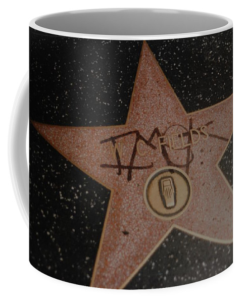 Hollywood Coffee Mug featuring the photograph W C Fields Star by Rob Hans