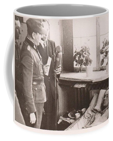 Waffen-ss Harald Nugiseks Received Knights Cross From Franz Augsberger In  Hospital 1944 Coffee Mug