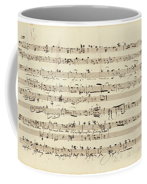 Art Coffee Mug featuring the painting Wagner, Richard Autograph Working Drafts For Act I Of Der Fliegende Hollander by Wagner Richard