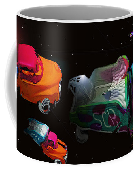 Trucks Coffee Mug featuring the painting Wagon Train To The Stars 3 by Charles Stuart