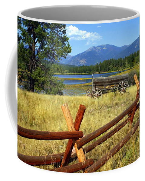 Landscape Coffee Mug featuring the photograph Wagon West by Marty Koch