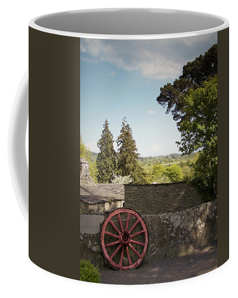 Irish Coffee Mug featuring the photograph Wagon Wheel County Clare Ireland by Teresa Mucha