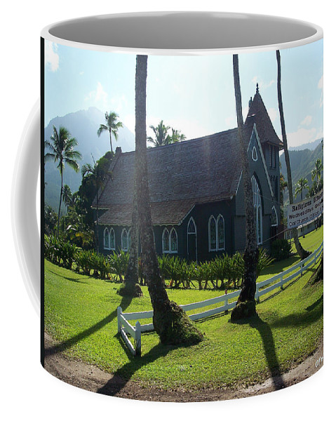 Church Coffee Mug featuring the photograph Wai Oli Hui Ia Church by Paulette B Wright