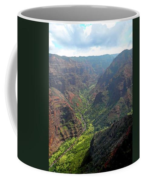 Frank Wilson Coffee Mug featuring the photograph Waiamea Canyon Kauai by Frank Wilson