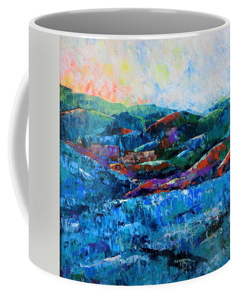 Landscape Coffee Mug featuring the painting Waianae Mtn Range Oahu by Cheryl Ehlers