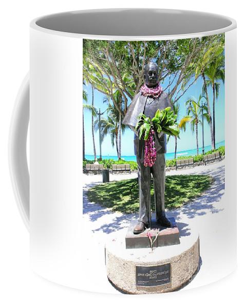 Statue Coffee Mug featuring the photograph Waikiki Statue - Prince Kuhio by Mary Deal