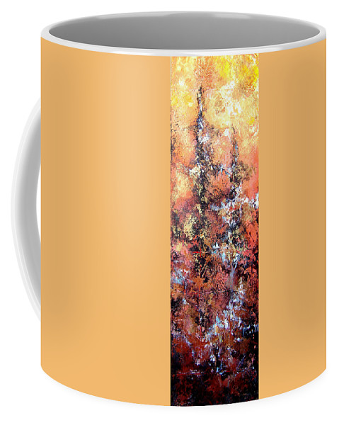 Tile Coffee Mug featuring the painting Wait For Sleep by Shadia Derbyshire