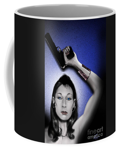 Ms. Huston Coffee Mug featuring the painting Wait Till They Get A Look At Me by Reggie Duffie