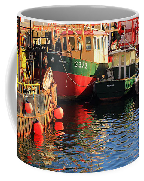 Fishing Boats Coffee Mug featuring the photograph Waiting At The Dock by Jennifer Robin