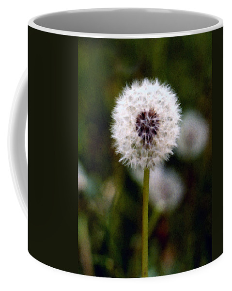 Dandelion Coffee Mug featuring the painting Waiting For A Breeze by Paul Sachtleben