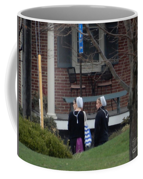 Amish Coffee Mug featuring the photograph Waiting For A Friend by Christine Clark