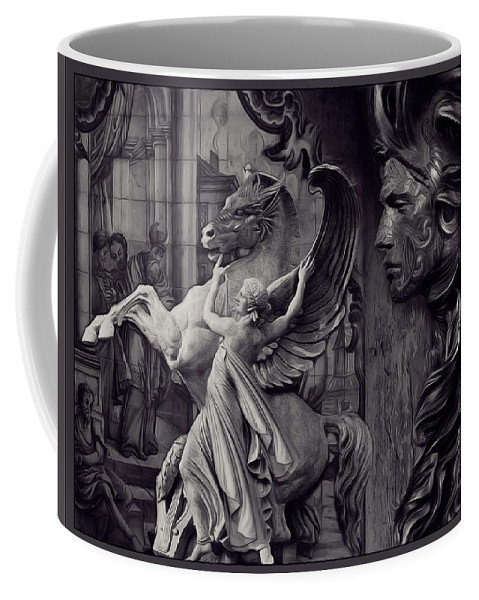 Waiting For Alexander Coffee Mug featuring the photograph Waiting For Alexander - Heroes And Gods - Violet by Daniel Arrhakis