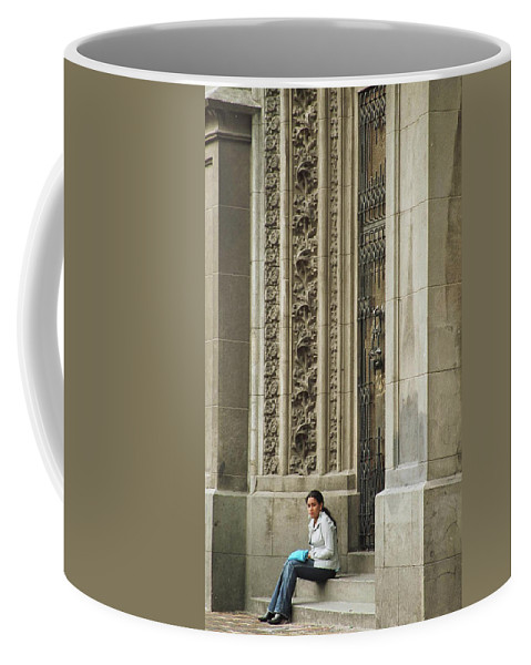 Church Coffee Mug featuring the photograph Waiting For God by Kathy McClure