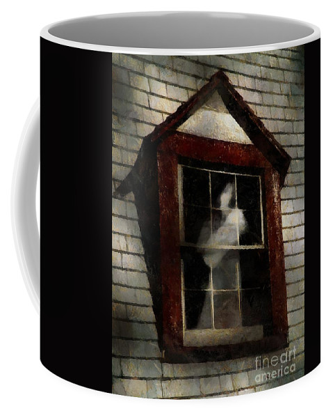 Window Coffee Mug featuring the painting Waiting For Henry by RC DeWinter