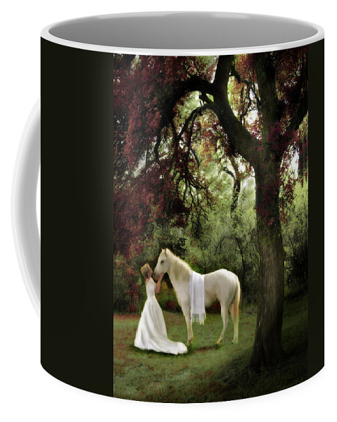Bride Of Christ Art Coffee Mug featuring the painting Waiting For My Prince by Constance Woods