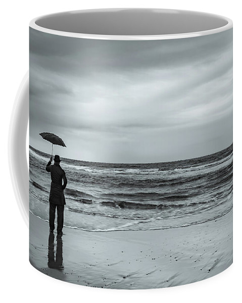 Cape Kiwanda Coffee Mug featuring the photograph Waiting For My Ship To Come In by Don Schwartz