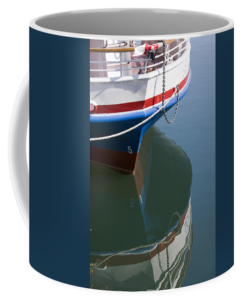 Chicago Windy City Boat Ride Lake Michigan Water Reflection Tourist Tourism Coffee Mug featuring the photograph Waiting For Passangers by Andrei Shliakhau