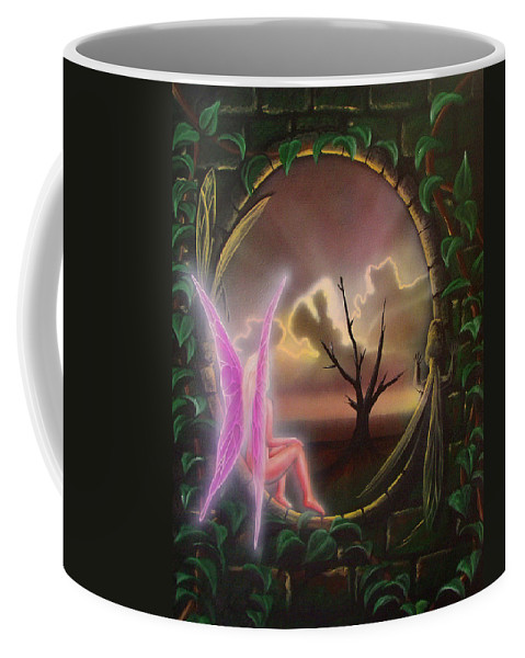 Fairy Coffee Mug featuring the painting Waiting For Spring by Shaun McNicholas