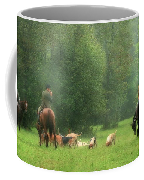 Horse Coffee Mug featuring the photograph Waiting For The Hunt by Angela Rath
