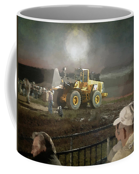 Americana Coffee Mug featuring the painting Waiting For The Pull by RC DeWinter