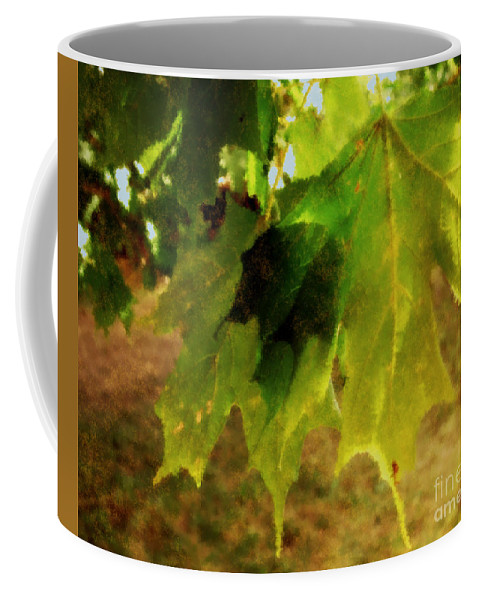 Autumn Coffee Mug featuring the painting Waiting For Winter by RC DeWinter