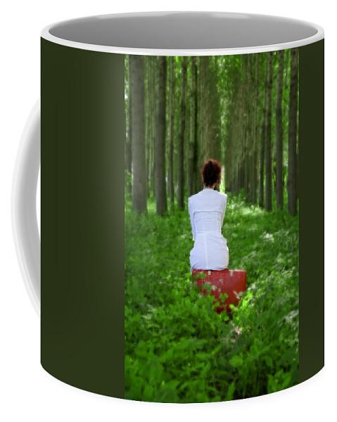 Female Coffee Mug featuring the photograph Waiting by Joana Kruse