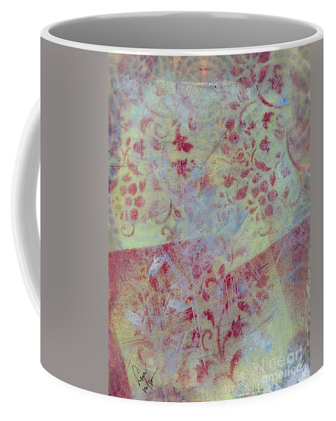 Abstract Coffee Mug featuring the painting Waiting To Go by Hew Wilson
