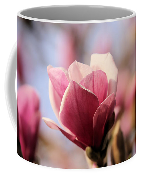Macro Coffee Mug featuring the photograph Wake Up Maggie by Theresa Campbell