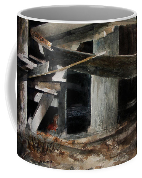 Landscape Coffee Mug featuring the painting Wakeup Call by Rachel Christine Nowicki