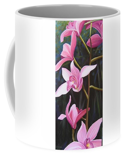 Orchids In Italy Coffee Mug featuring the painting Waking Up In The Sun by Hunter Jay
