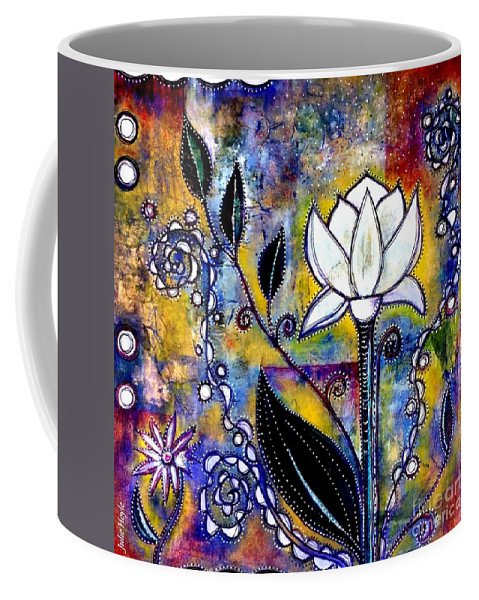 Julie-hoyle Coffee Mug featuring the painting Waking Up by Julie Hoyle