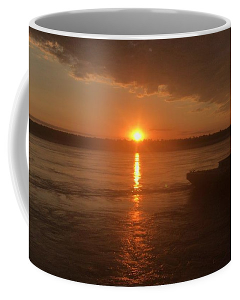 Skyscape Coffee Mug featuring the photograph Waking Up The River by Cindy Charles Ouellette