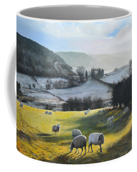 Wales Coffee Mug featuring the painting Wales. by Harry Robertson