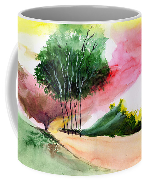 Watercolor Coffee Mug featuring the painting Walk Away by Anil Nene