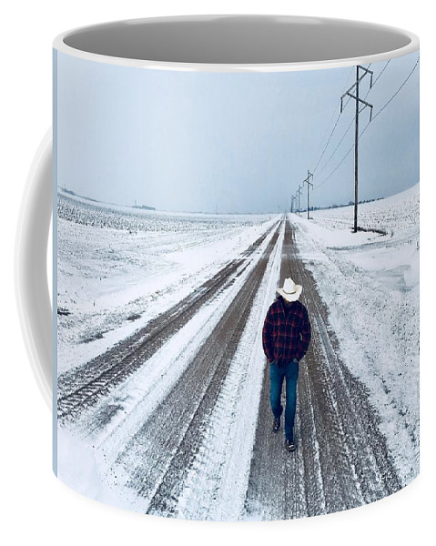 Snowy Day Coffee Mug featuring the photograph Walk In The Park by Kevin Brennan