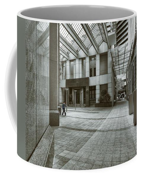 Architecture Coffee Mug featuring the photograph Walk The Walk by Wayne Sherriff