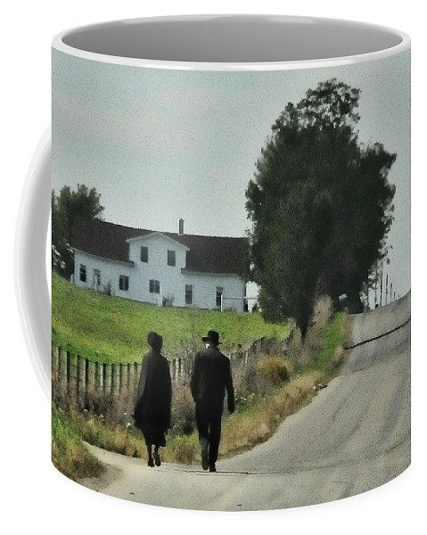 Amish Coffee Mug featuring the photograph Walking by David Arment