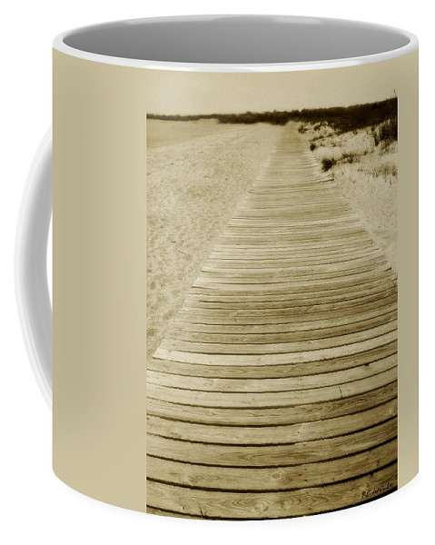 Beach Coffee Mug featuring the photograph Walking Into Forever by RC DeWinter