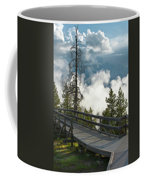 Yellowstone National Park Coffee Mug featuring the photograph Walking Into The Unknown by Sandra Bronstein