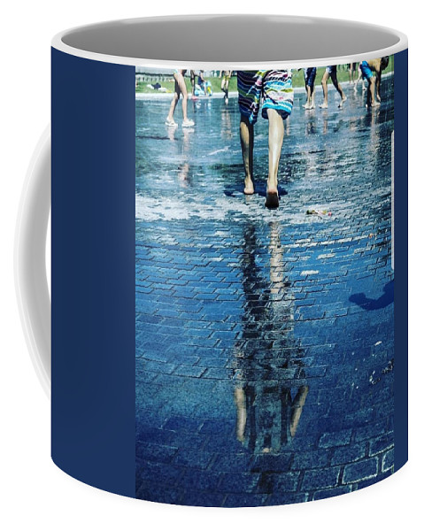 Man Coffee Mug featuring the photograph Walking on the water by Nerea Berdonces Albareda