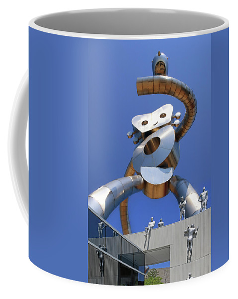 Metallic Coffee Mug featuring the photograph Walking Tall Path by Christopher McKenzie