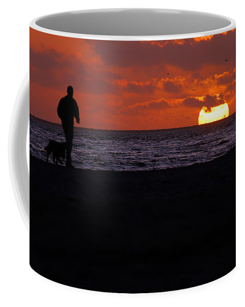 Clay Coffee Mug featuring the photograph Walking The Dog by Clayton Bruster
