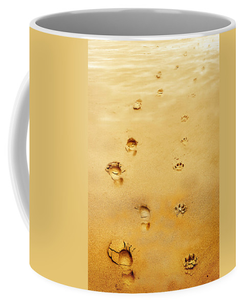 Walking The Dog Coffee Mug featuring the photograph Walking The Dog by Mal Bray