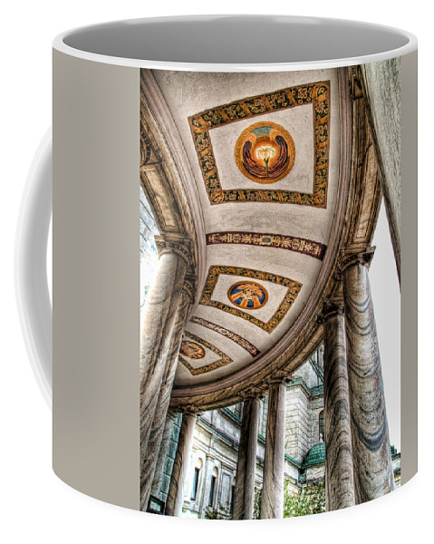 Olv Coffee Mug featuring the photograph Walkway At Our Lady Of Victory by Tammy Wetzel