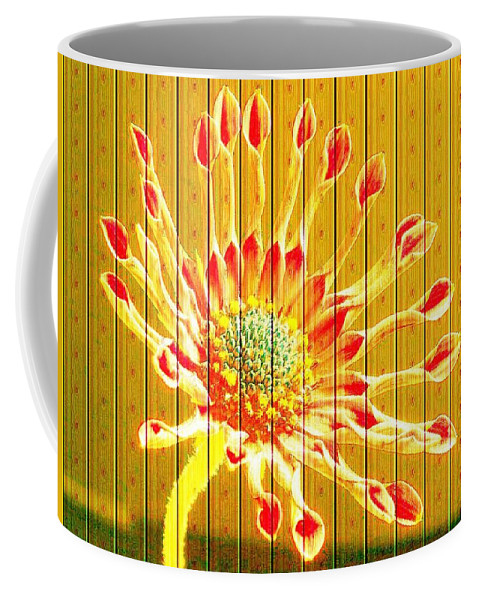 Flower Coffee Mug featuring the photograph Wall Flower by Tim Allen