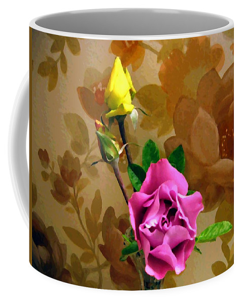 Roses Coffee Mug featuring the photograph Wall Flowers by Will Borden