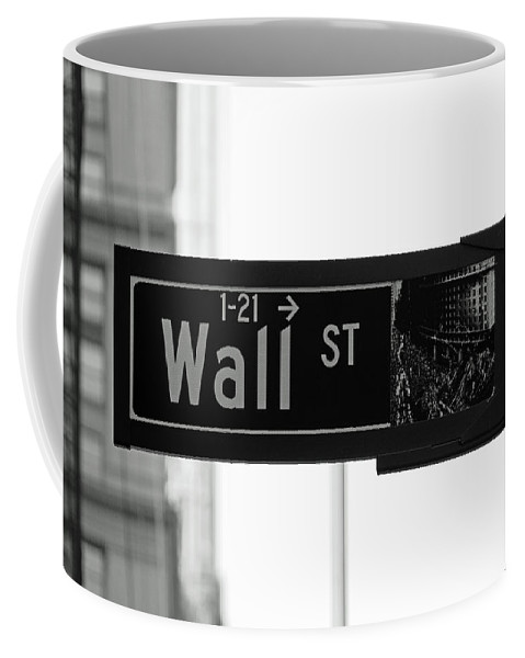 Wall Street Coffee Mug featuring the photograph Wall Street by Patrick Weissenberger