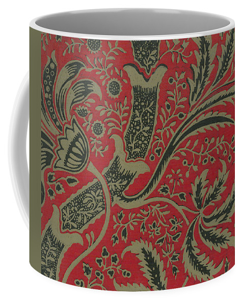 Art Coffee Mug featuring the painting Wallpaper Sample With Bamboo Pattern By William Morris by William Morris