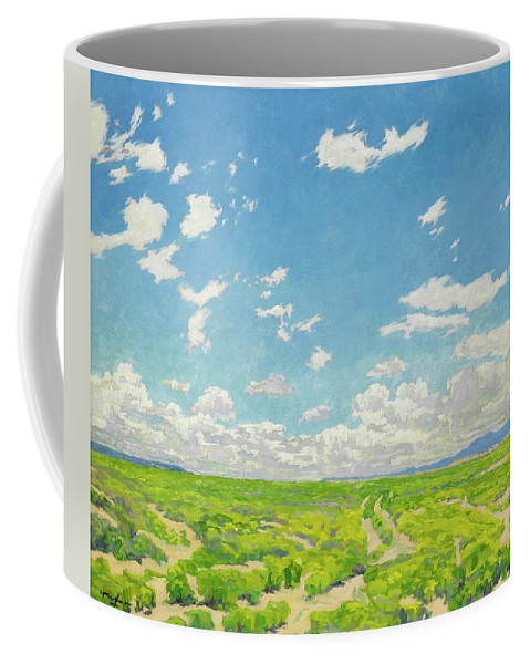 Nature Coffee Mug featuring the painting Walter Ufer 1876 - 1936 The American Desert by Walter Ufer